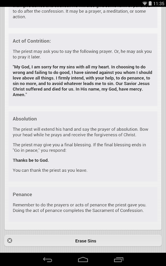 Confession App: Catholic- screenshot
