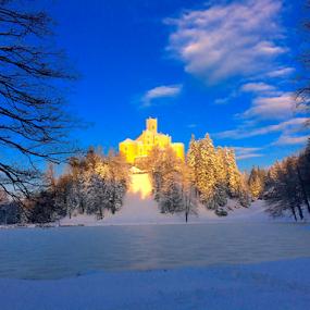 Trakoscan by Zvonimir Cuvalo - Instagram & Mobile iPhone ( llake, trakoscan, snow, castle, varazdin )