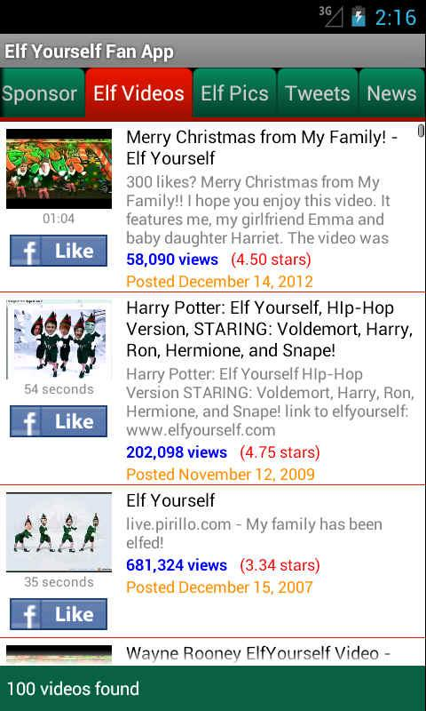 Elf Yourself Fan App - screenshot