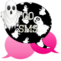 GO SMS - Pink Ghost icon