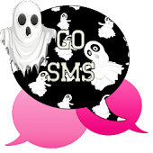 GO SMS - Pink Ghost