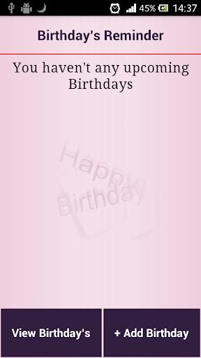 Birthday's Reminder