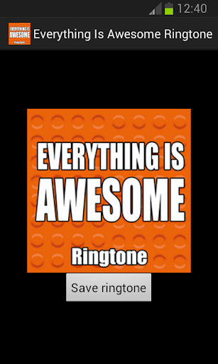 Everything Is Awesome Ringtone
