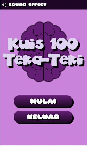 Kuis 100 Teka Teki Asah Otak