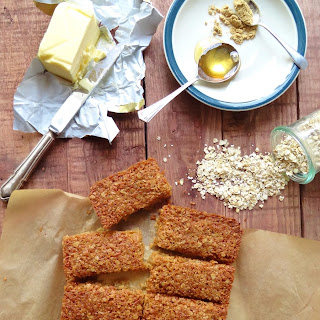 Coconut and Ginger Flapjacks.