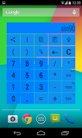 Screenshot of Widget Calculator multicolor