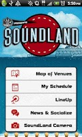 Screenshot of SoundLand