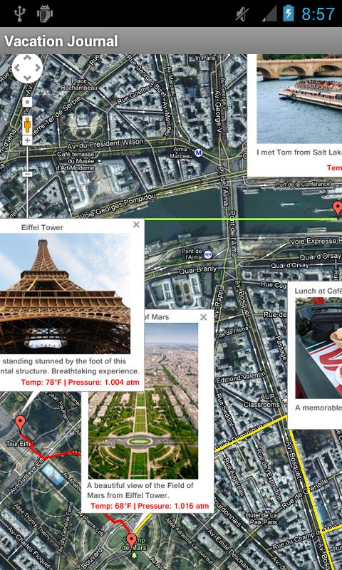 Vacation & Travel Journal- screenshot