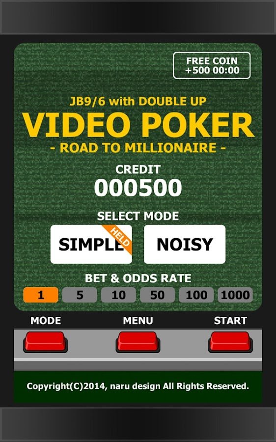 VIDEO POKER - MILLIONAIRE- screenshot