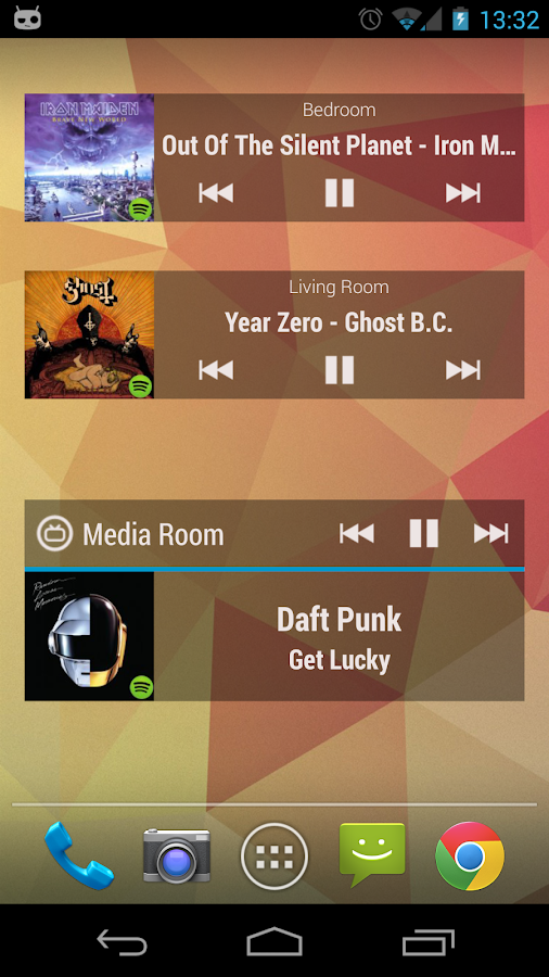 Sonos Widget- screenshot
