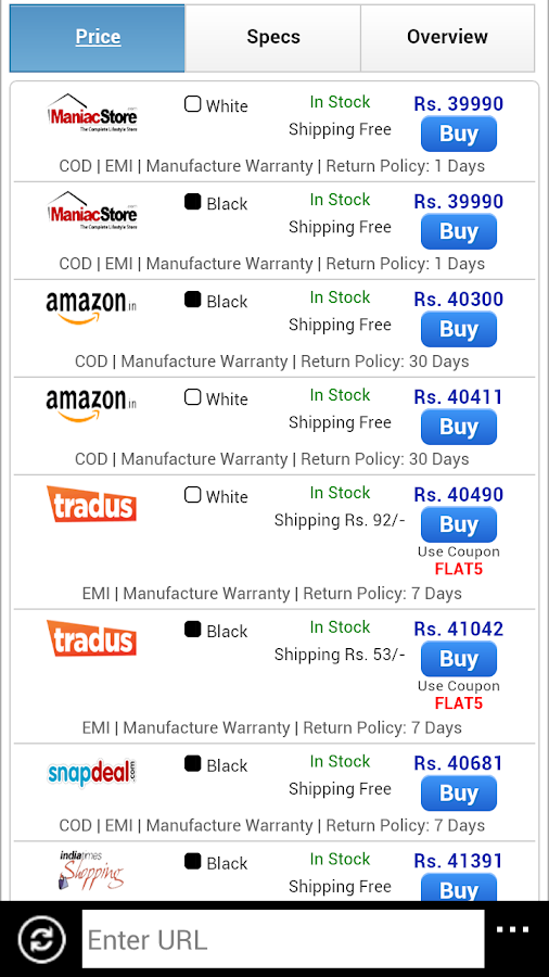 PriceDealsIndia - screenshot