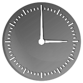 Elegant Gloss Clock Widget