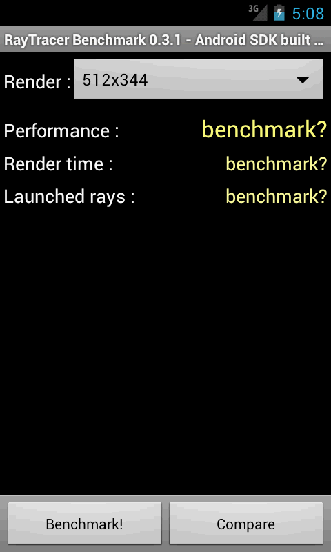 RayTracer Benchmark - screenshot