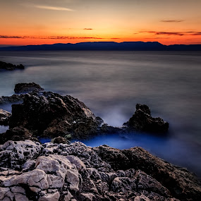 Waiting for the sun by Florin Ihora - Landscapes Waterscapes ( sea, long exposure, seascape, sunrise, rocks,  )