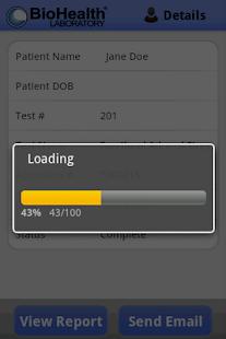 BioHealth Test Results Portal- screenshot thumbnail