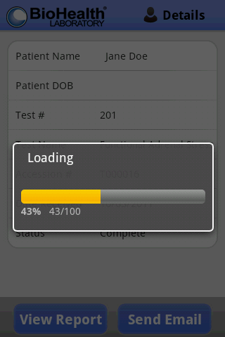 BioHealth Test Results Portal- screenshot
