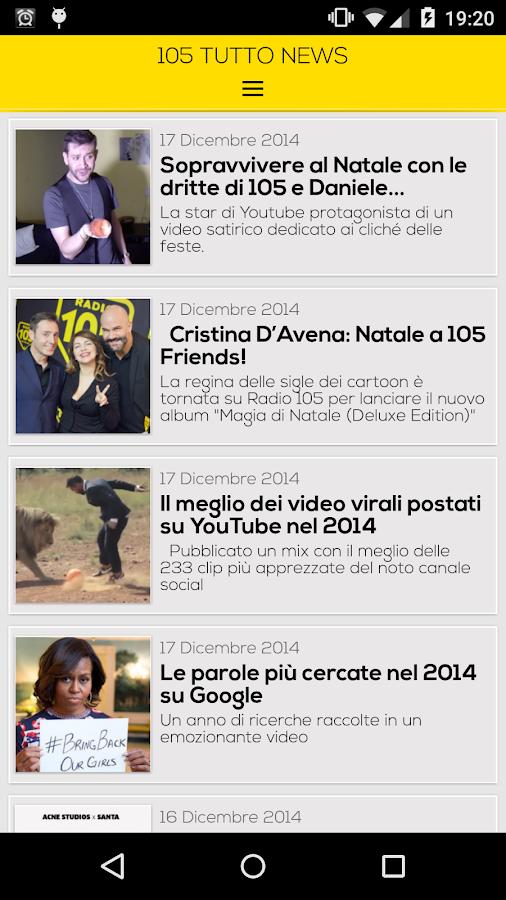 Radio 105 - screenshot