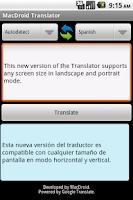 Screenshot of MacDroid Translator