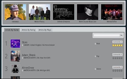 Music Fast for Tablets - screenshot thumbnail