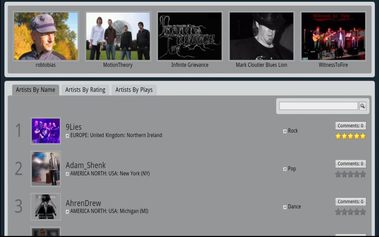 Music Fast for Tablets - screenshot