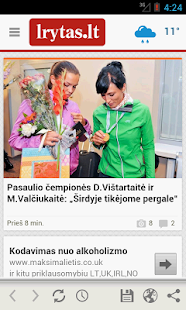 Lrytas.lt for Android phone - screenshot thumbnail