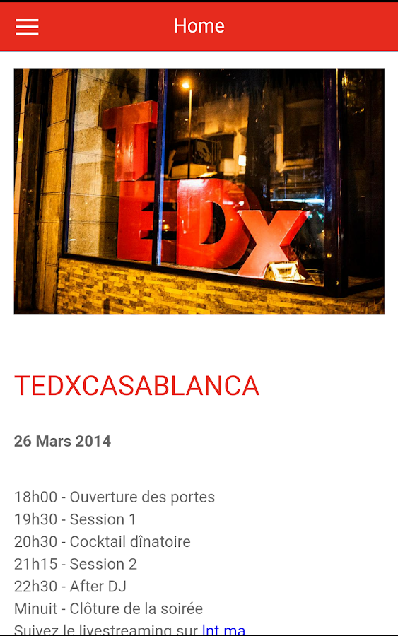 TEDxCasablanca- screenshot