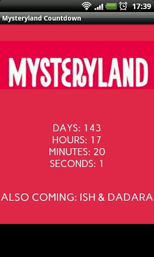 Mysteryland 2014 Countdown