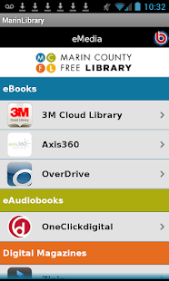 Marin County Free Library- screenshot thumbnail