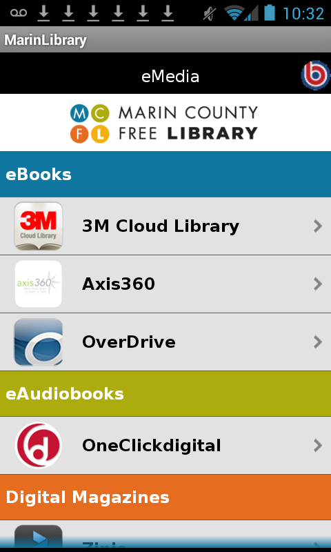 Marin County Free Library - screenshot