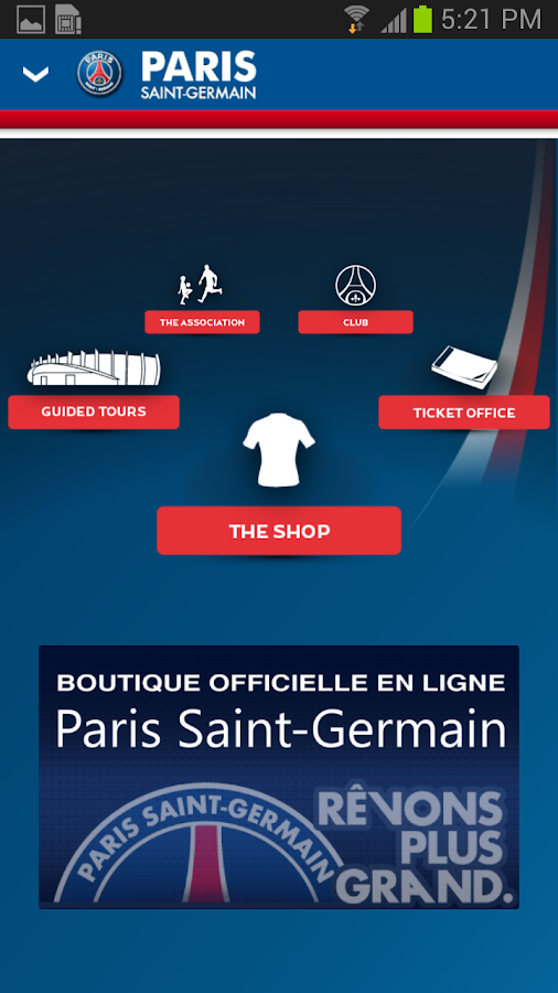 PSG Official - screenshot