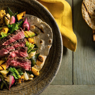 Grilled Steak and Vegetables With Tortillas