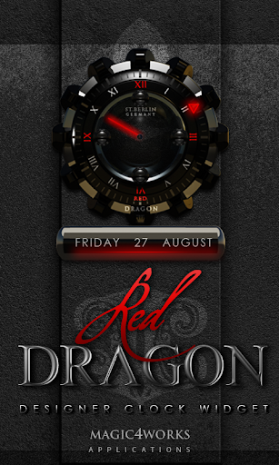 Red Dragon Clock Widget