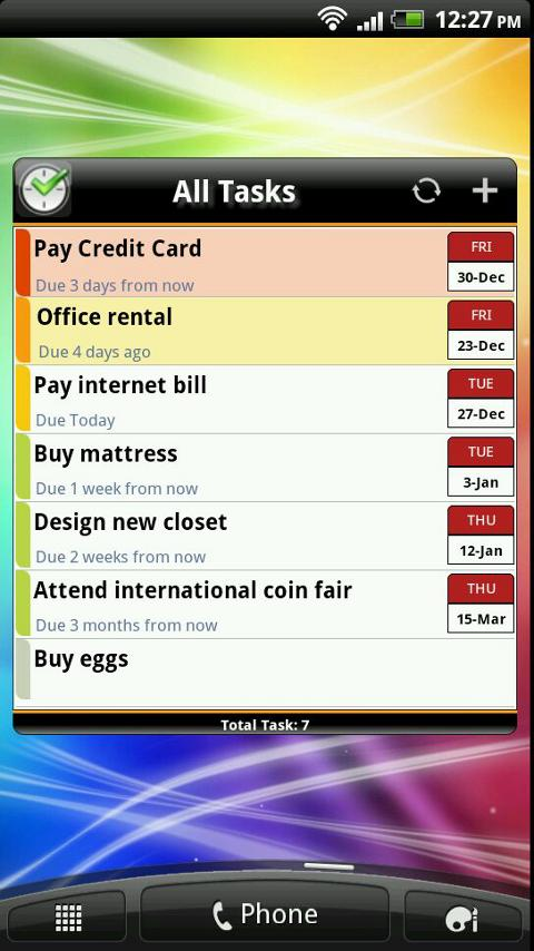 TNT Lite To-Do List - screenshot