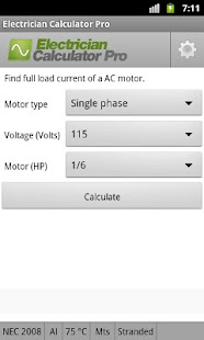 Electrician Calculator Pro- screenshot thumbnail