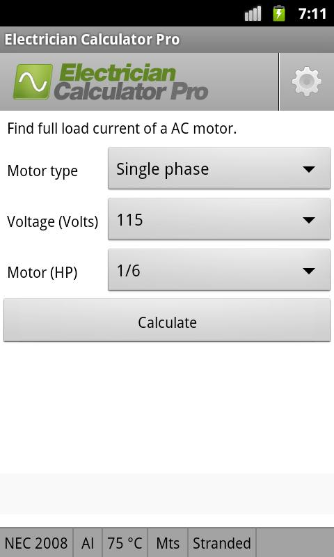Electrician Calculator Pro- screenshot