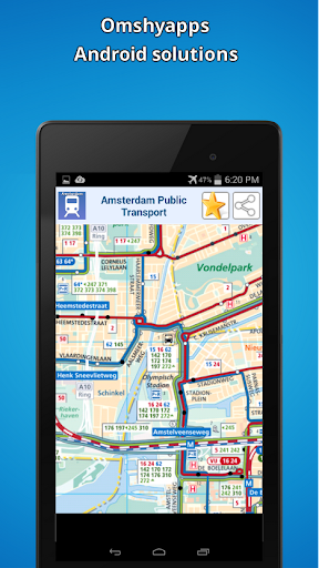地圖阿姆斯特丹的公共交通 玩交通運輸App免費 玩APPs