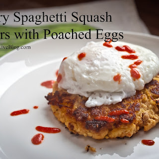 Savory Spaghetti Squash Fritters with Poached Eggs