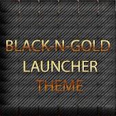 BLACKNGOLD LAUNCHER THEME