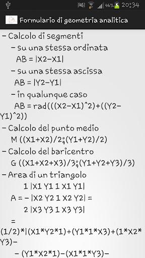 Formulario geometria analitica