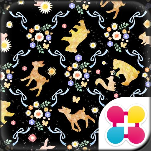 キュート壁紙 バンビとお花の森 Icon