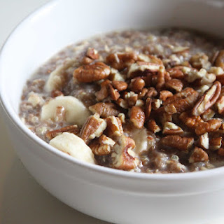 Breakfast Quinoa with Oats and Chia Seeds.