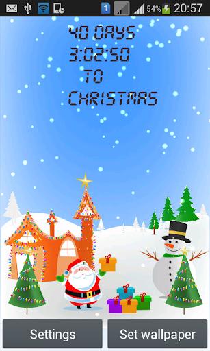 Christmas Snowy Clock