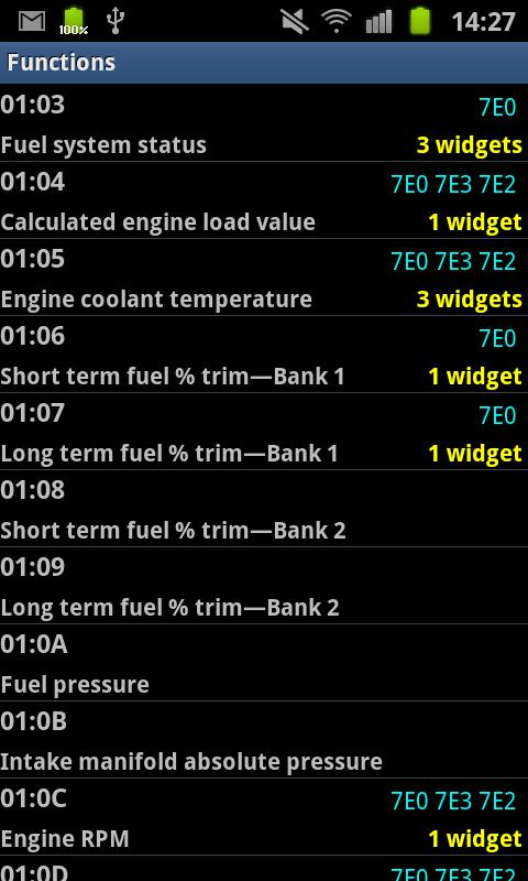 CANdroid OBD Dashboard - screenshot
