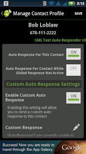 SMS Text Auto Responder FREE - screenshot thumbnail
