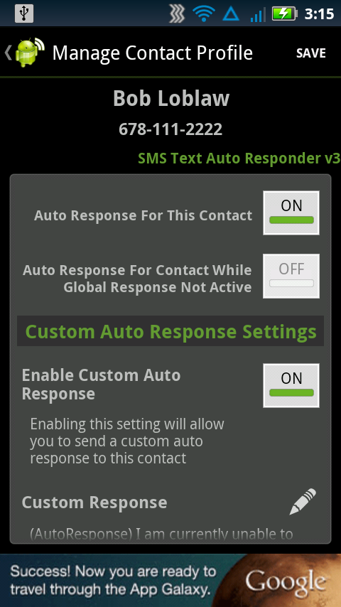 SMS Text Auto Responder FREE - screenshot