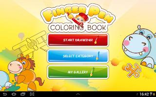 Screenshot of FingerPen 400+ coloring books
