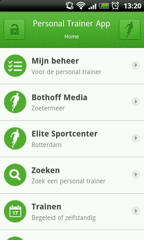 Personal Trainer App- screenshot