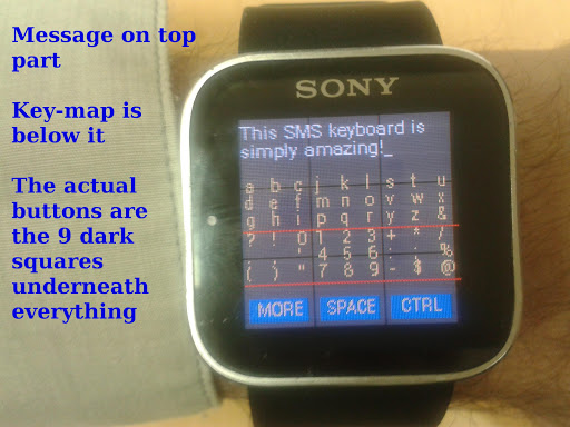 Keyboard-Relief for SmartWatch