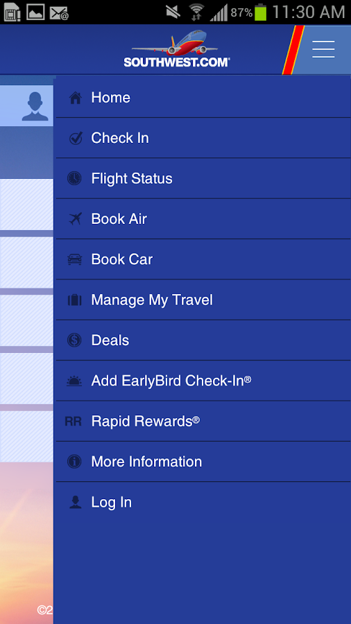 Southwest Airlines - screenshot