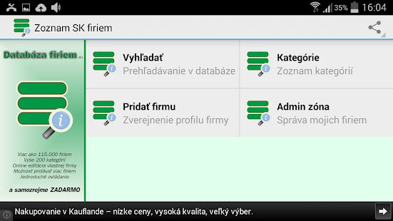 Slovak business register- screenshot thumbnail